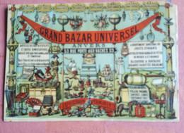 CHROMO Rond 1895 / GRAND BAZAR UNIVERSELLE   ANVERS /antwerpen Simili LIEBIG 12,3/8,2 Cm Keerzijde Blanco - Other