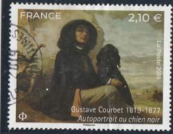 FRANCE 2019 GUSTAVE COURBET AUTOPORTRAIT AU CHIEN NOIR OBLITERE A DATE YT 5333 - Used Stamps