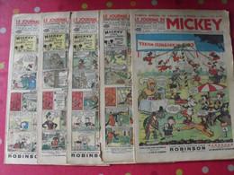 5 N° Du Journal De Mickey 1937. Jojo Richard Pim Pam Poum Jim La Jungle Malheurs D'annie Donald - Journal De Mickey