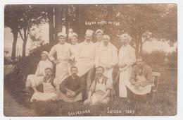 CPA VOSGES.GERARDMER.CARTE PHOTO .GRAND HOTEL DU LAC SAISON 1909 - Gerardmer