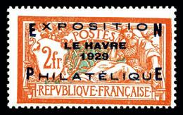 N° 257A * Exposition Du Havre De 1929, Quasi ** Frais Et TB (signé/certificat) - Unused Stamps