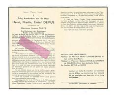 DD 64. HENRI DEVUE Echtg. J. SMETS - Ere-ontvanger Belastingen - °SCHALKHOVEN 1877 / +ST-TRUIDEN 1951 - Devotion Images