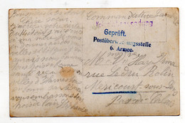 Boussieres En Cambresis. Cambrai. Gepruft Postuberwachungsstelle 6. Armée.Commandature Cambrai. Carte Photo. - Other Municipalities