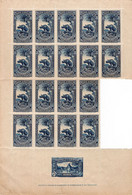PLANCHE DE 18 TIMBRES VIGNETTES  IX CONGRES DE LONDRES 1929 - 1940-1949