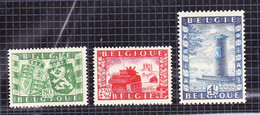 1950 Nr 823-25*  Met Scharnier.Belgie-Groot-Brittannie.OBP 10. - Ongebruikt