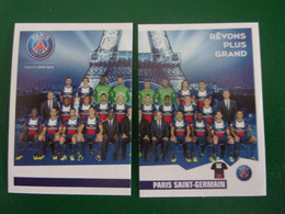 PANINI Foot 2013-14 N°318 & 319 PSG Paris Saint-Germain Tour Eiffel - Französische Ausgabe