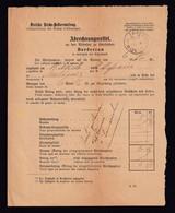 DDZ 660A - Bordereau De Quittances à Recouvrer Allemand De MALINES 1887 Par EMMERICH - Briefe U. Dokumente