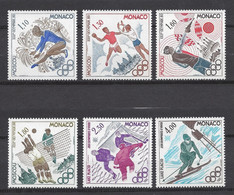 ⭐ Monaco - YT N° 1218 à 1223 - Neuf Sans Charnière - 1980 ⭐ - Unused Stamps