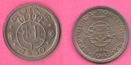 Guinea Bissau 2,50 Escudos 1952 Periodo Amministrazione Portuguese Guinea Nickel Coin - Guinea-Bissau