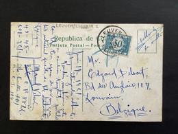 POSTKAART GETAXEERD Gestempeld  RELAIS LEUVEN 1 - Briefe U. Dokumente