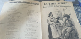 L AFFAIRE HUMBERT /PAUVRE THERESE /CONDAMNATION HUMBERT DAURIGNAC - Partitions Musicales Anciennes
