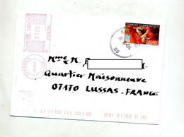 Lettre Cachet Kusadasi + Machine Sur Halterophilie - Covers & Documents