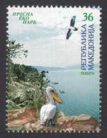 Macedonia 2004 Nature Protection Prespa Lake Fauna Birds Pelican MNH - Pelicans