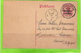 10 Centimes-postkarte - Afstempeling BRUGELETTE - [OC1/25] General Gov.