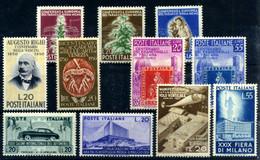 Italia Nº 567/71, 591/2, 593/4, 595/6. Año 1950/51 - 1946-60: Nuevos