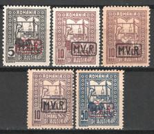 Germania Occ. Romania 1917 Unif.18/21+19a */MH VF/F - Occupazione 1914 – 18