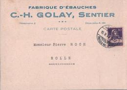 Vallée De Joux, Le Sentier, CP Publicité C.H. Golay Fabrique D'ébauches (15.5.1931) 10x15 - VD Vaud