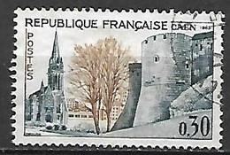 FRANCE    -   1963 .  Y&T N° 1389 Oblitéré .  Eglise St-Pierre à Caen - Oblitérés