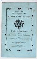 MILITARIA. DAUBEUF-SERVILLE (76) LIVRET. REMISE Et BENEDICTION D'UN DRAPEAU. 1924. - Documenten