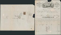 N°14 Sur LAC Illustrée Obl Pt 226 çàd Louvain (1865) > Nethen / Moulins économiques De P. Gilbert & Cie, Louvain - 1863-1864 Medallions (13/16)