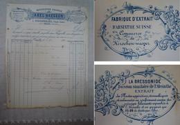 Absinthe / Facture Absinthe Abel BRESSON - Invoices