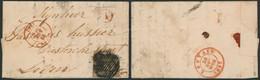 """N°6 Touché ! Sur LAC Obl Rurale + Cachet Dateur """"Diest"""" Et Boite Rurale """"A"""" (scherpenheuvel ) > Lowen - 1851-1857 Medallions (6/8)"""