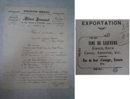 Absinthe / Facture Absinthe Albert Bonnard (Vienne - Isère) - Invoices