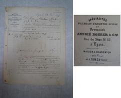 Absinthe / Facture Absinthe Andrié ROHRER (Lyon, Charenton-Paris, Et Nîmes) - Invoices