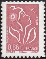 France Autoadhésif N°   85 D ** Ou 3969_A - Marianne De Lamouche. Légende Phil@poste 0.86 Eur.- Dentelé 4 Cotés - Autoadesivi