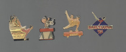 PINS PIN'S SPORTS  GYMNASTIQUE GYM JEUX OLYMPIQUES 1992 JO BARCELONA    LOT 4 PINS - Ginnastica