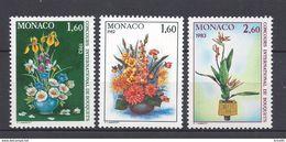 ⭐ Monaco - YT N° 1349 à 1351 - Neuf Sans Charnière - 1982 ⭐ - Unused Stamps
