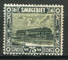 22078 SARRE  N°96* 75c. Vert-noir Et Jaune Valeur En Monnaie Française  1922-23  TB - Ungebraucht