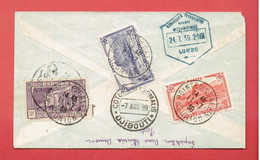 REUNION 1939 POINTE DES GALETS POUR DJIBOUTI COTE DES SOMALIS VIA LUMBO MOZAMBIQUE PUIS LE HAVRE PAR AVION N 134 136 145 - Storia Postale