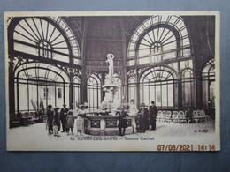 CPA 74 Haute Savoie  EVIAN Les BAINS  - Buvette Source Cachat  écrite Et Timbrée 1925 - Evian-les-Bains