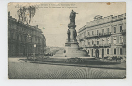 UKRAINE - ODESSA - Place Catherine Avec Le Monument De L'Impératrice - Ukraine