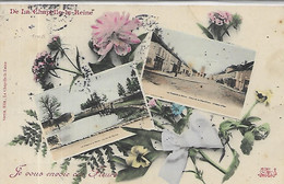 77, Seine Et Marne, La CHAPELLE-la-REINE, De La Chapelle-la-Reine, Je Vous Envoie Ces Fleurs,Colorisée, Scan Recto-Verso - La Chapelle La Reine