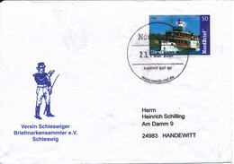 Germany Cover Privatpost NORDBRIEF 23-2-2007 With The Nice Ship FREYA On The Stamp Sent To Handewitt - Privées & Locales