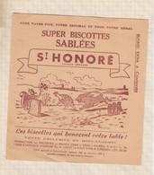 "21/31 Buvard ST HONORE BISCOTTES SABLEES "" LE LIEVRE ET LA TORTUE"" - Zwieback"