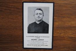 5209/Abbé Henri LEROY Chevalier Ordre Couronne Binche 1859/1916-Principal  Collège St-Joseph CHIMAY - Décès