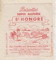 """21/31 Buvard ST HONORE BISCOTTES Allégées """" LE LIEVRE ET LA TORTUE"""" - Zwieback"""