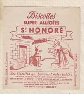"""21/33 Buvard ST HONORE BISCOTTES Allégées """"la Cigale Et La Fourmi """" - Zwieback"""