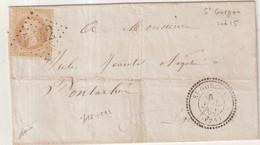 "FRANCE : GC 4542 . "" ST GORGON "" . (24) . N° 28 . 1869 . SIGNE BAUDOT . LST . - 1849-1876: Klassieke Periode"