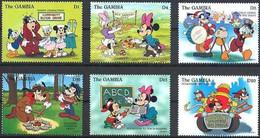 MWD-BK2-114-1 MINT PF/MNH ¤ GAMBIA 1996 6w In Serie ¤- THE WORLD OF WALT DISNEY -- FRIENDS OF WALT DISNEY - Disney