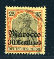Deutsche Auslandspostämter Marokko Michel Nummer 25 Gestempelt - Deutsche Post In Marokko