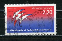 """FRANCE - BICENT. DE LA REVOLUTION - N° Yvert 2560 Obli. RONDE DE """"PIERREFONDS"""" De 1989 - Oblitérés"""