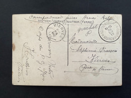 POSTKAART Relais HOUTHEM VEURNE - HOUTHEM FURNES + VIERVES - Covers & Documents