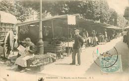 VINCENNES Le Marché Rue De Fontenay - Vincennes