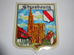 Blason écusson Adhésif Autocollant Strasbourg Cathédrale Aufkleber Wappen Sticker Coat Arms Adesivi Stemma Adhesivo - Oggetti 'Ricordo Di'
