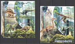 YY1184 LAST ONE IN STOCK 2013 MOZAMBIQUE MOCAMBIQUE FAUNA REPTILES PREHISTORIC DINOSAURS KB+BL MNH - Préhistoriques