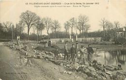 VILLENEUVE SAINT GEORGES  Route De Vigneux  Janvier 1910 - Villeneuve Saint Georges